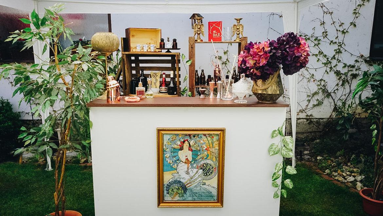 Apothéka mobilný vintage bar na eventy